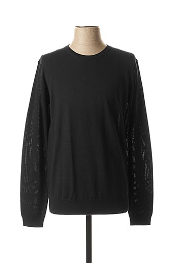 Pull col rond noir KARL LAGERFELD pour homme