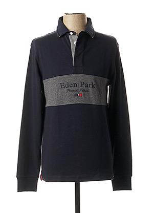 Polo manches longues bleu EDEN PARK pour homme
