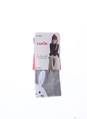 Collants gris YANOIR pour fille