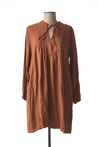 Robe courte marron PAKO LITTO pour femme