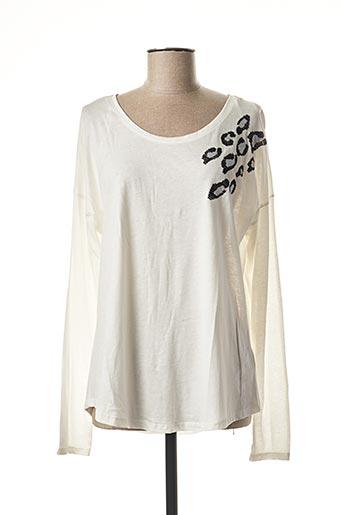 T-shirt manches longues blanc ESPRIT pour femme