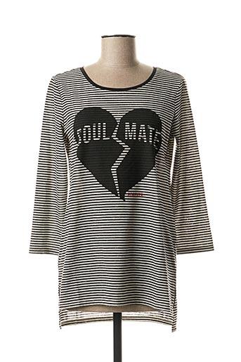 T-shirt manches longues noir EDC pour femme