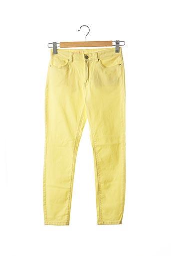 Pantalon 7/8 jaune EDC pour femme
