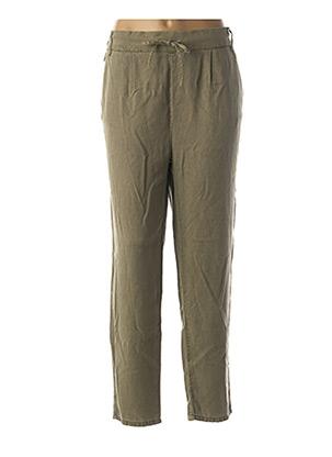Pantalon casual vert ONLY pour femme