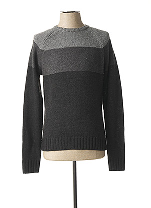 Pull col rond gris KILIWATCH pour homme
