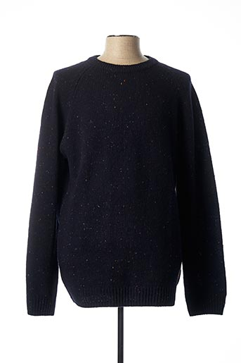 Pull col rond bleu CARHARTT pour homme