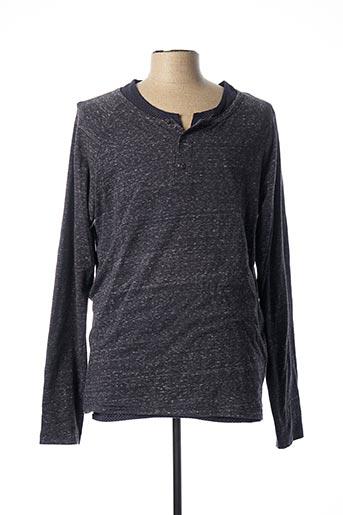 T-shirt manches longues bleu SCOTCH & SODA pour homme