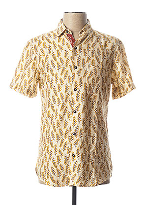 Chemise manches courtes jaune PEARLY KING pour homme