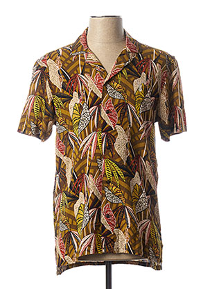 Chemise manches courtes marron PEARLY KING pour homme
