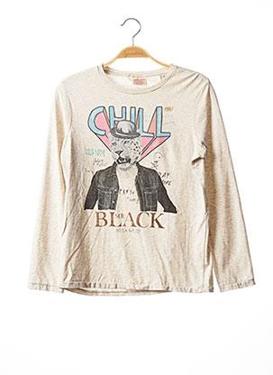 T-shirt manches longues gris SCOTCH SHRUNK pour garçon