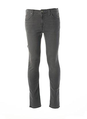 Jeans skinny gris LEE pour homme