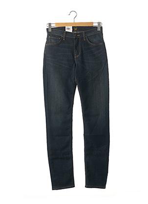 Jeans coupe droite bleu LEE pour homme