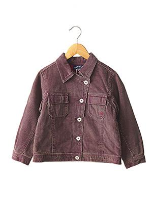 Veste casual violet TINTIN pour fille