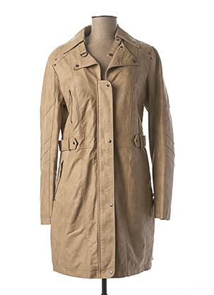 Manteau long beige FRED SABATIER pour femme