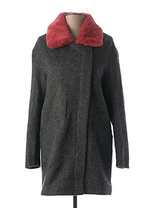 Manteau long gris ONE STEP pour femme