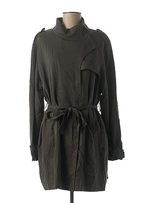 Manteau long vert ONE STEP pour femme