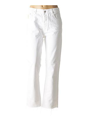 Jeans coupe droite blanc APRIL 77 pour femme
