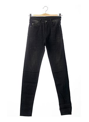 Jeans coupe slim noir LE TEMPS DES CERISES pour fille