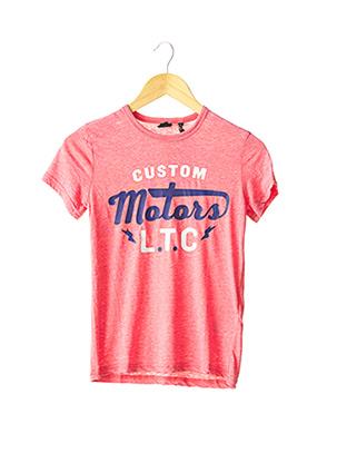 T-shirt manches courtes rouge LE TEMPS DES CERISES pour garçon