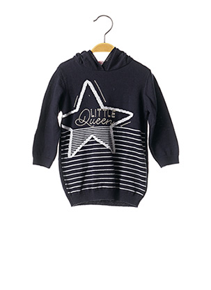 Pull col rond bleu CHICCO pour fille