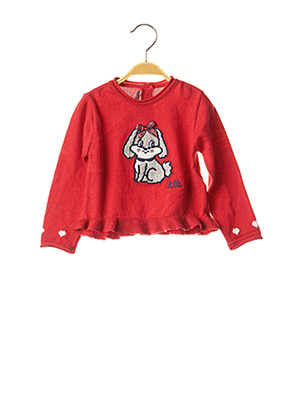 Pull col rond rouge CHICCO pour fille