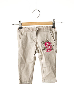 Pantalon casual beige CHICCO pour fille