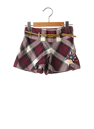 Short rouge CHICCO pour fille