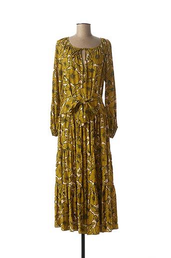 Robe longue jaune TRAFFIC PEOPLE pour femme