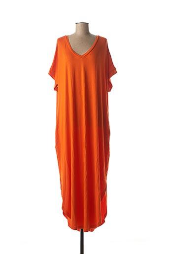 Robe longue orange MAT. pour femme