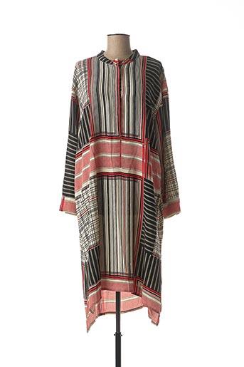 Robe mi-longue rouge MASAI pour femme