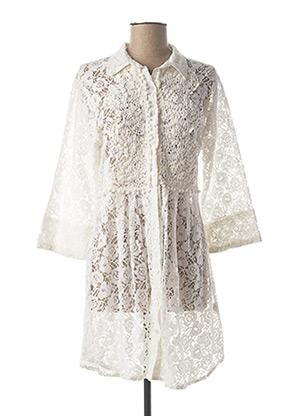 Robe courte blanc ANTICA SARTORIA pour femme