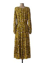 Robe longue jaune TRAFFIC PEOPLE pour femme seconde vue