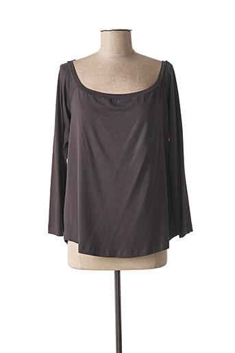 T-shirt manches longues gris MAT. pour femme