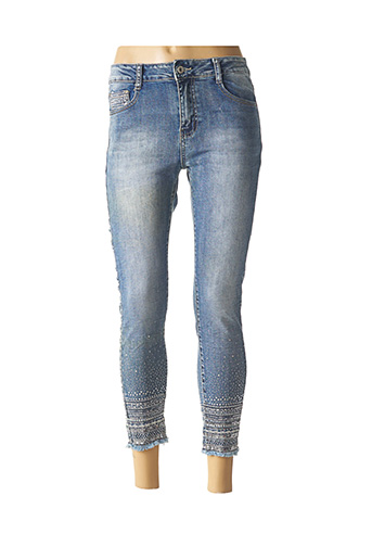 Pantalon 7/8 bleu DENIM pour femme