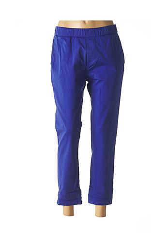 Pantalon 7/8 bleu WENDY TRENDY pour femme