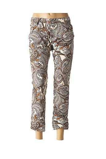 Pantalon 7/8 marron PLEASE pour femme