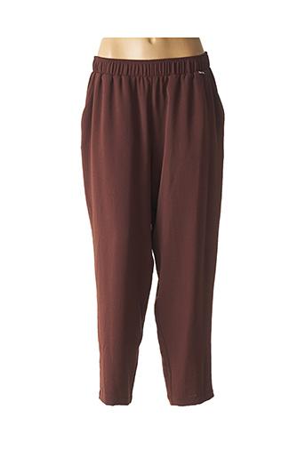 Pantalon chic marron MAT. pour femme