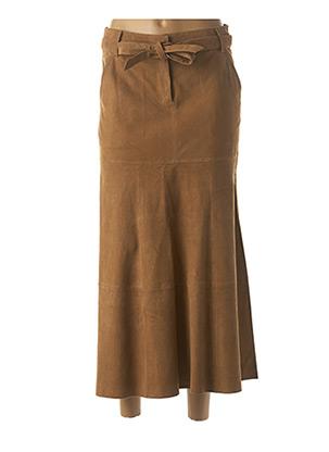 Jupe longue marron VENTCOUVERT pour femme