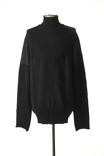 Pull col cheminée noir GIRBAUD pour homme
