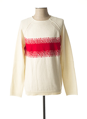 Pull col rond beige STRELLSON pour homme