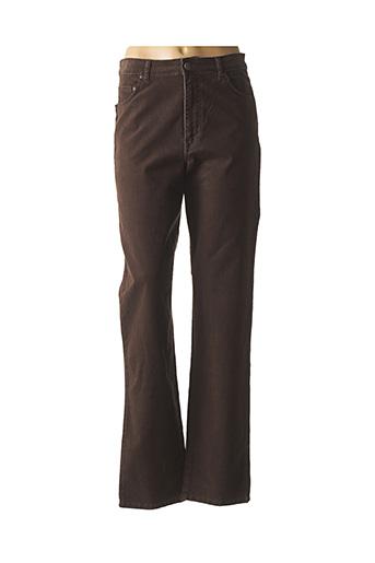 Pantalon casual marron JEAN GABRIEL pour femme