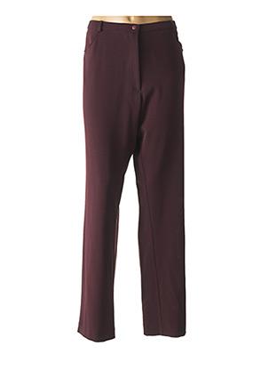 Pantalon casual violet JEAN GABRIEL pour femme