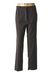Pantalon casual marron JEAN GABRIEL pour femme seconde vue