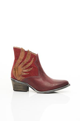 Bottines/Boots rouge CASTA pour femme