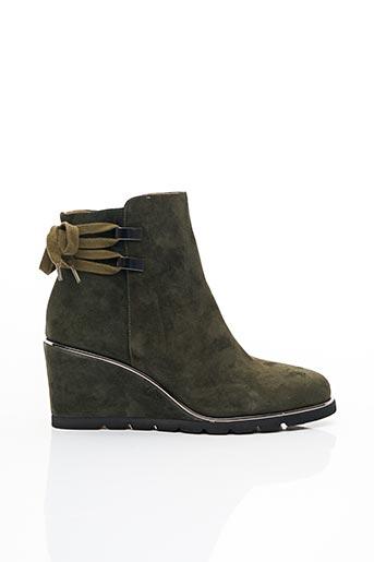 Bottines/Boots vert ADIGE pour femme