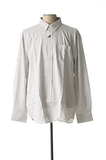 Chemise manches longues blanc ARMORIAL pour homme