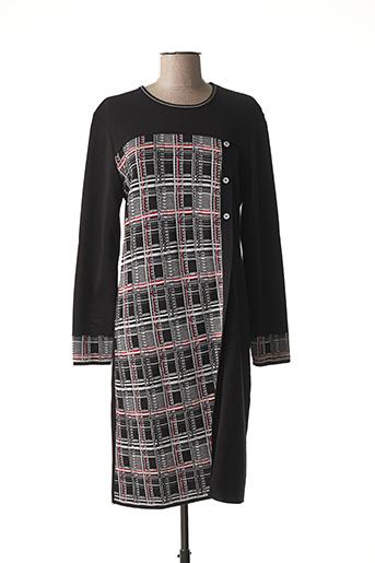 Robe pull noir SAINT CHARLES pour femme