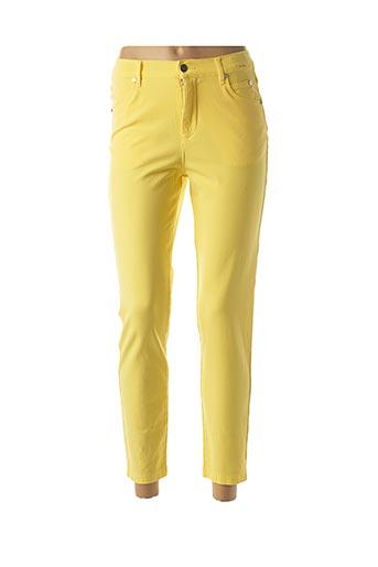 Pantalon 7/8 jaune MARBLE pour femme
