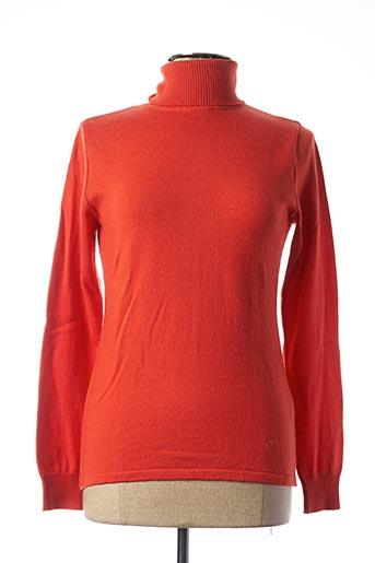 Pull col roulé orange ROYALMER pour femme
