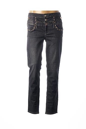 Jeans coupe droite gris LIU JO pour femme